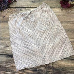 Linen blend skirt lined tie front sz Med